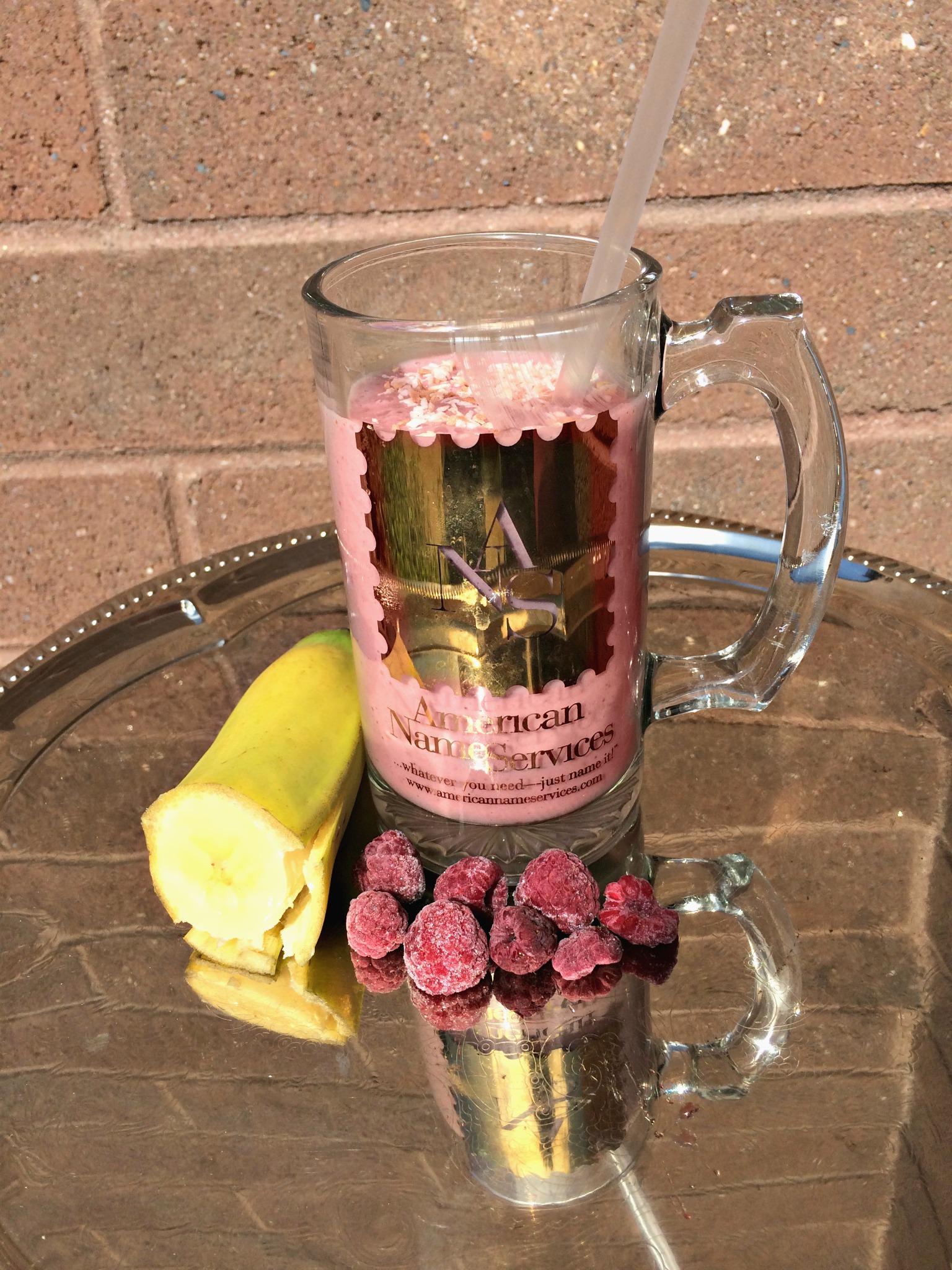 Smoothie Recipe Peanut Butter Jelly Banana Raspberry