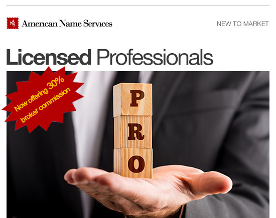 Licensed Professionals American Name Services