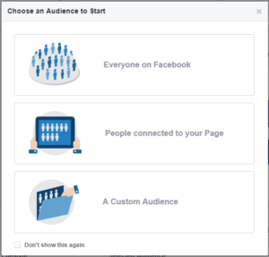Facebook tools: Audience Insights Selection